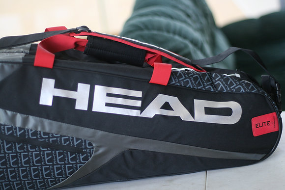 HEAD Tennis Bag Elite 6R Combi, Black Red Color
