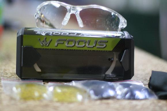 PROKENNEX EYEWEAR for Racquetball, FOCUS Clear Frame