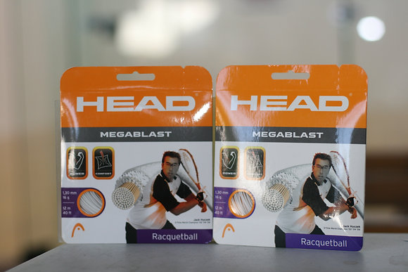 HEAD RACQUETBALL STRING White, 16 GAUGE, 2 Packages Total