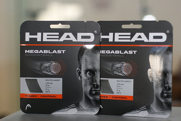 HEAD RACQUETBALL STRING Black, 16 GAUGE, 2 Packages Total