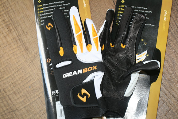 2 Gearbox Yellowjacket Gloves Black/Yellow 2 Gloves
