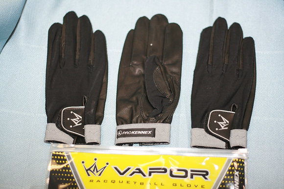 1 PROKENNEX VAPOR GLOVE, Black and Grey Colory and White Color