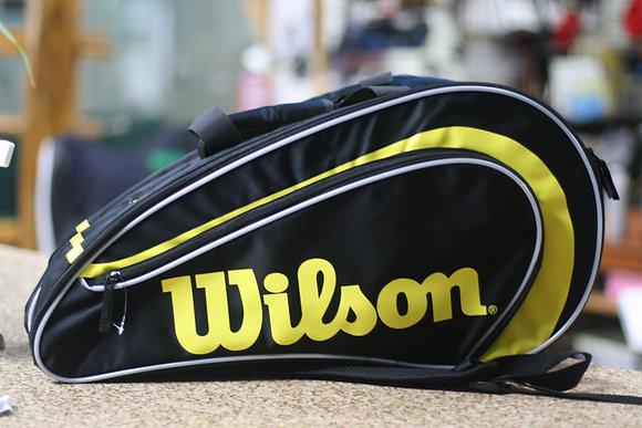 WILSON Bag, Rak Pak, Racquetball Bag, Black Yellow
