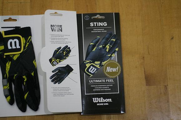 2 WILSON Glove STING, Black and Yellow