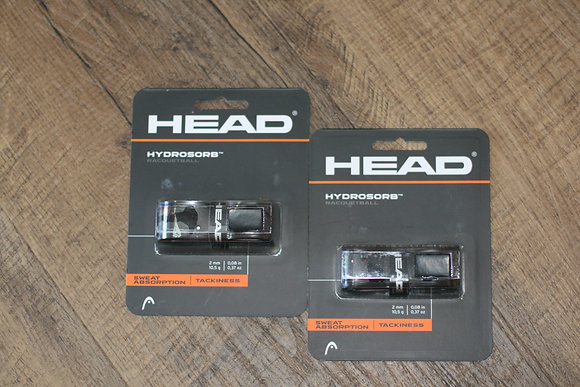 HEAD RACQUETBALL GRIP HYDROSORB Black, 2 Grips Total
