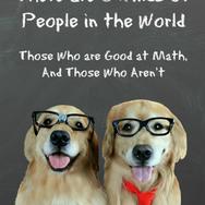 Funny Golden Retriever Math Joke Postcard