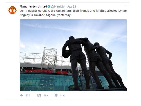 CALABAR TRAGEDY; FIFA, MAN UTD, OTHERS