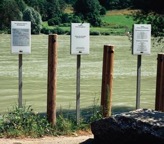 Donau-Weg Staatsgrenze