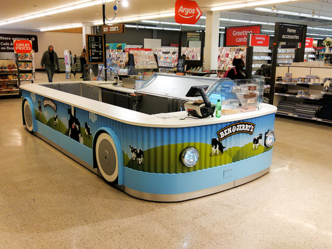 Ben and Jerrys Sample Stand