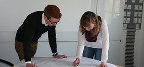 Mitarbeiter ZBN im Planungsgespräch