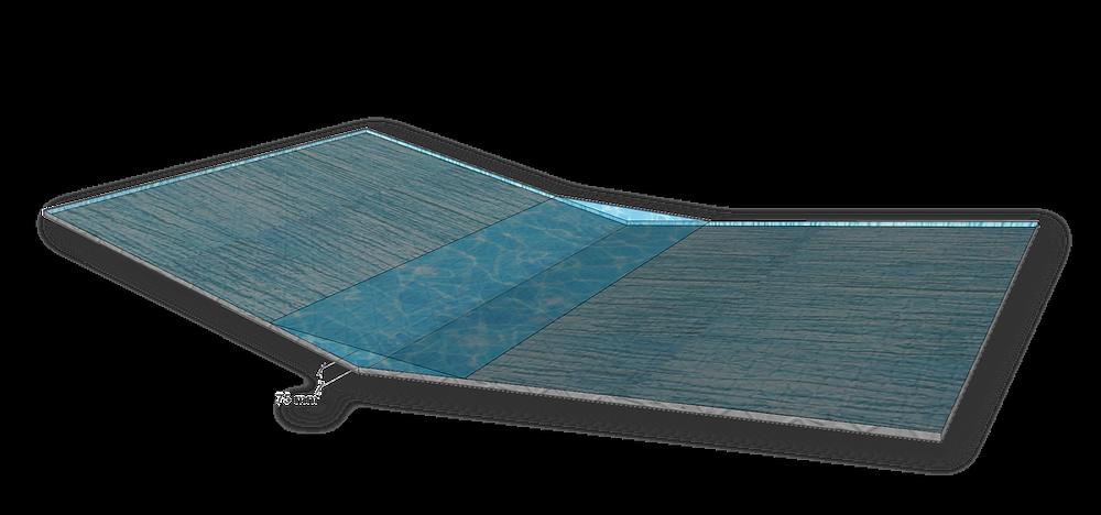 Falsche Kehle, die durch die Verschneidung zweier angrenzender Satteldachhälften entsteht. Die Wassermengen, die hier zusammenlaufen, können schnell die hinnehmbare Anstauhöhe überschreiten.