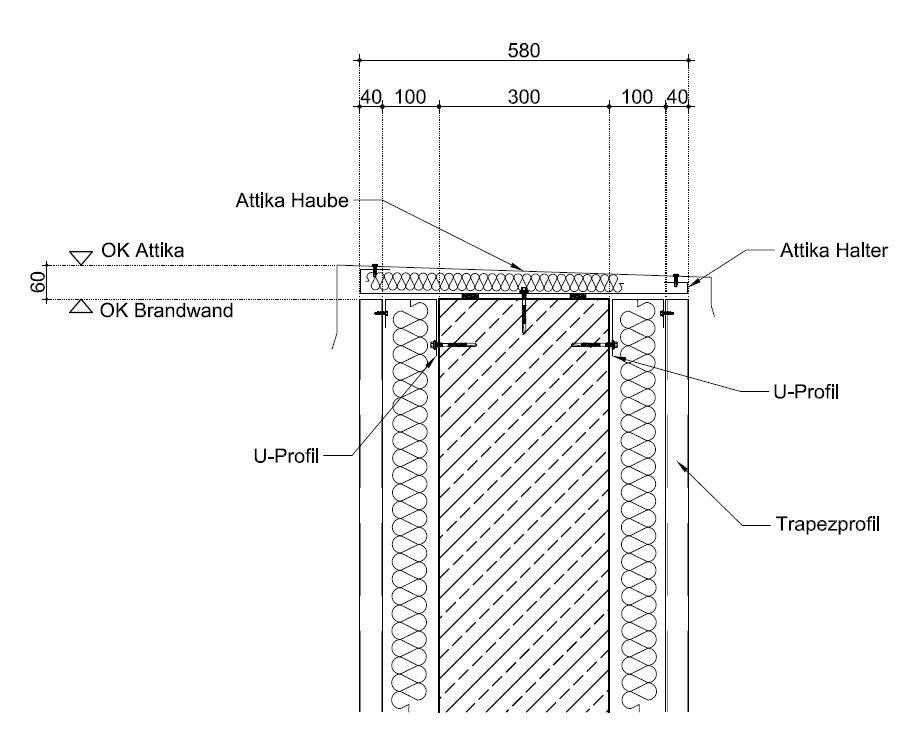 Eine ungeeignete Wandkopfabdeckung mit einem einfachen Formteil aus dünnem Stahlblech