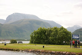 View of Ben Nevis and Three Peaks Yacht Race Finish