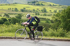 Cycling in Ennerdale on the Three Peaks Yacht Race