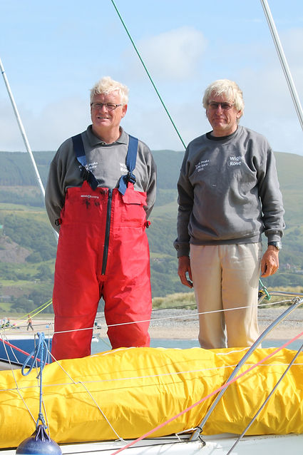 Gary Clayton and Geoff West from the Wight Rose team - Three Peaks Yacht Race 2017