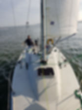 Team ML Automation sailing The Big Cheese in the 3 Peaks Yacht Race
