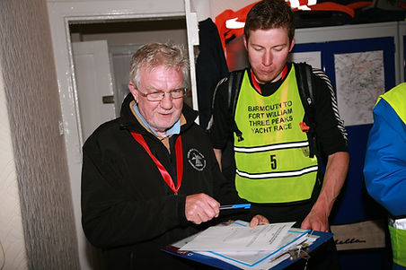 Keith Mander (L), Skipper of Mistral Three Peaks Yacht Race 2016