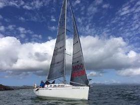 North Star- BOOM Sail - Racing as  Team Roaring Forties in the 2019 Three Peaks Yacht Race.