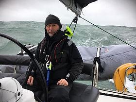 Chirs Ross skipper of Peaky Blinders in the 2019 Three Peaks Yacht Rac