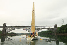 Wight Rose in the Menai Strait in Three Peak Yacht Race