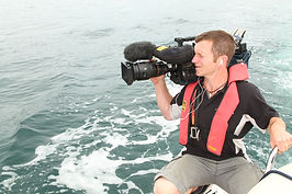 TV coverage at the Three Peak Yacht Race