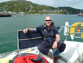 Pete Chatfied in the Three Peak Yacht Race
