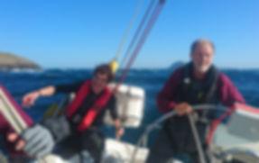 Paul Jackson & Stuart Walker on Wild Spiriti during the 3 Peaks Yacht Race