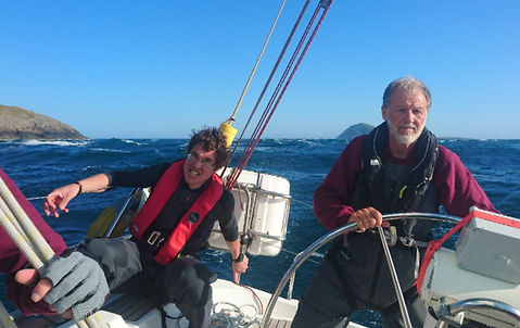 Paul Jackson & Stuart Walker on Wild Spiriti during the 3 Peaks Yacht Race