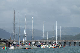 Start of Three Peaks Yacht Race off Barmouth