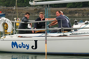 Moby J in the Menai Strait - Three Peaks Yacht Race