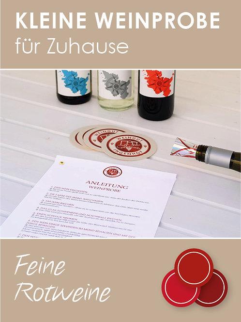 Kleine Weinprobe für Zuhause: Rotweine