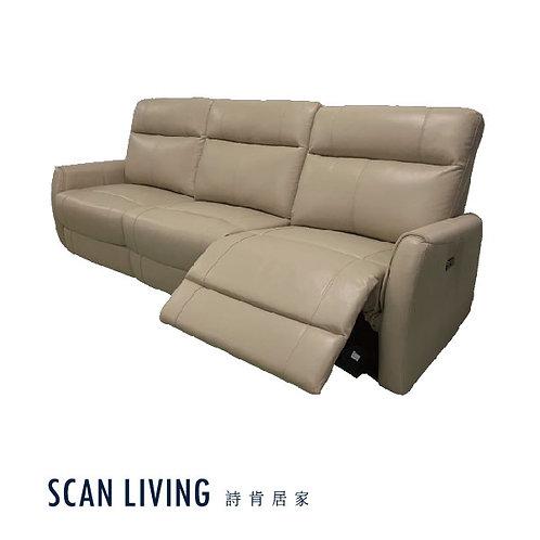 C18200-3人座電動皮沙發