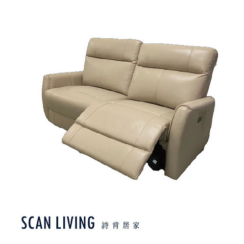 C18200-2人座電動皮沙發