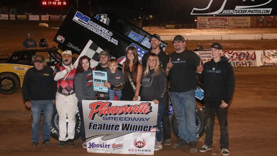 Justyn Cox and C&M Motorsports Grab Placerville Speedway Victory