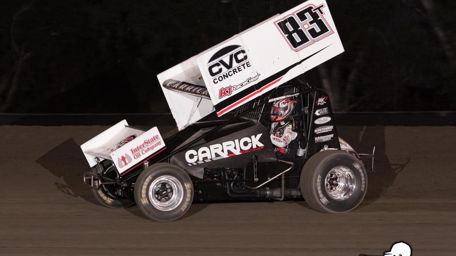 Tanner Carrick Opens Sprint Car Season with 10th Place Run