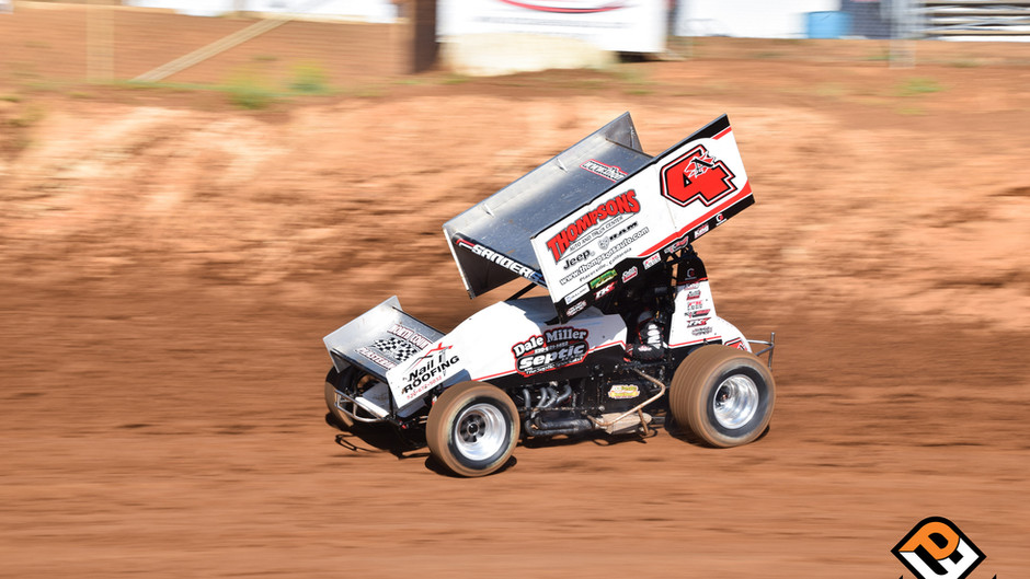 Late Roll Over Ends Justin Sanders' Top Five Bid During 4th of July Action at Placerville Speedway