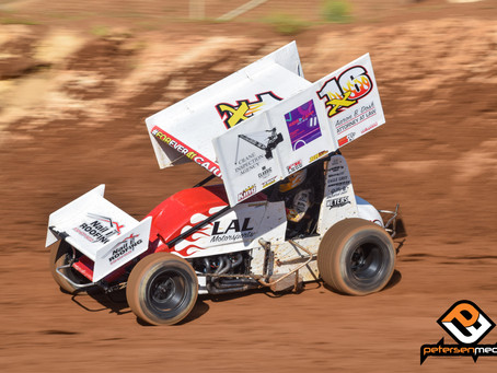 Andy Gregg Rides the Rim to Placerville Speedway Victory