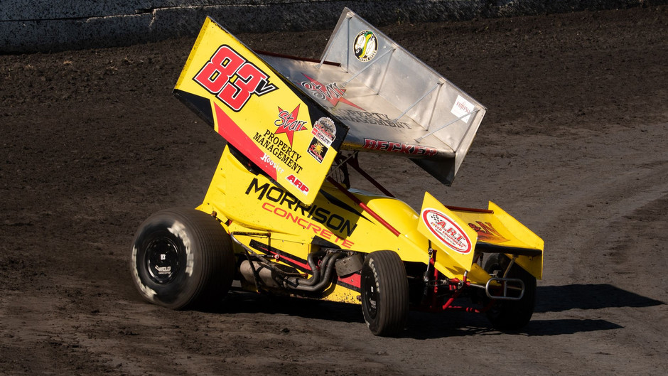 Sean Becker Rallies from Tail to Finish 11th with KWS at Petaluma Speedway