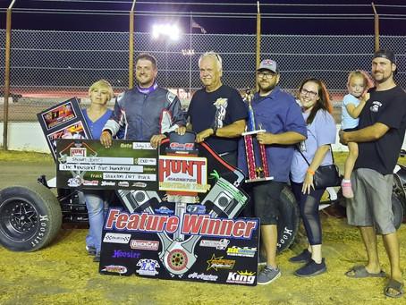 Shawn Jones Picks Up Hunt Series Win at the Stockton Dirt Track