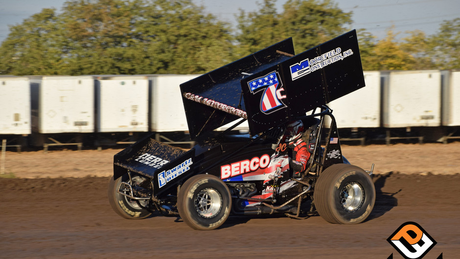 Cox and C&M Motorsports Charge from 23rd to 5th at Stockton Dirt Track