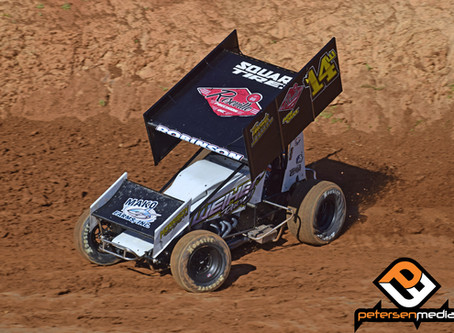 Robinson Hangs on To Finish Fourth at Placerville Speedway