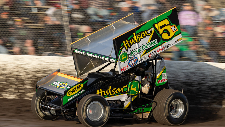 Nienhiser Battles World of Outlaws at Tri-State Speedway Before USAC Schedule Ramps Up