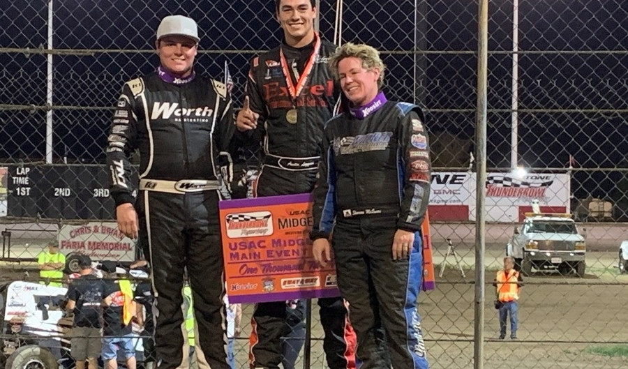 Austin Liggett Cashes in For USAC Western States Midget Win in Tulare, CA
