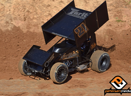 Bayston Gets Elbows Up In Placerville, CA After Early Wreck