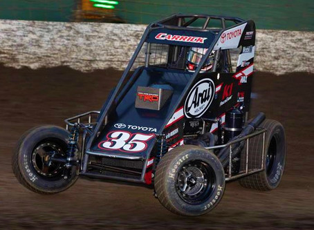 Tanner Carrick Looks Forward to Winged Weekend After Tough Mid-America Midget Week