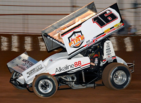Justin Sanders Picks up Two Top-Five Finishes with Lucas Oil ASCS National Tour