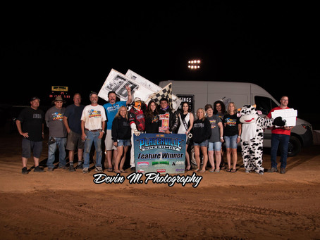 Blake Carrick Bags First Placerville Speedway Win of 2021