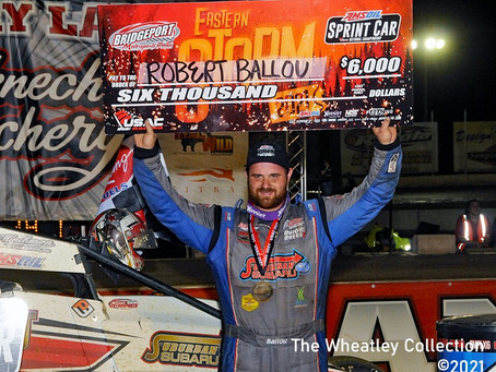 Ballou's Second USAC National Win of Year Propels Him to Eastern Storm Championship