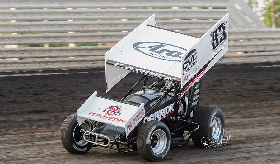 Tanner Carrick Gets First Taste of Knoxville Raceway