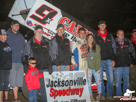 Paul Nienhiser Makes Late Race Move To Win at Jacksonville Speedway